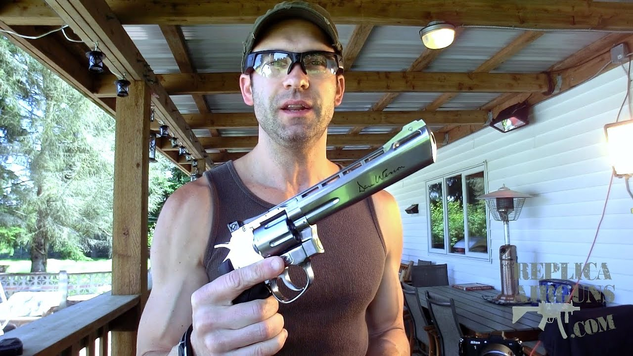ASG Dan Wesson – Test de tir sur le terrain de revolver Airsoft CO2 CO2 de 6 po – Argent