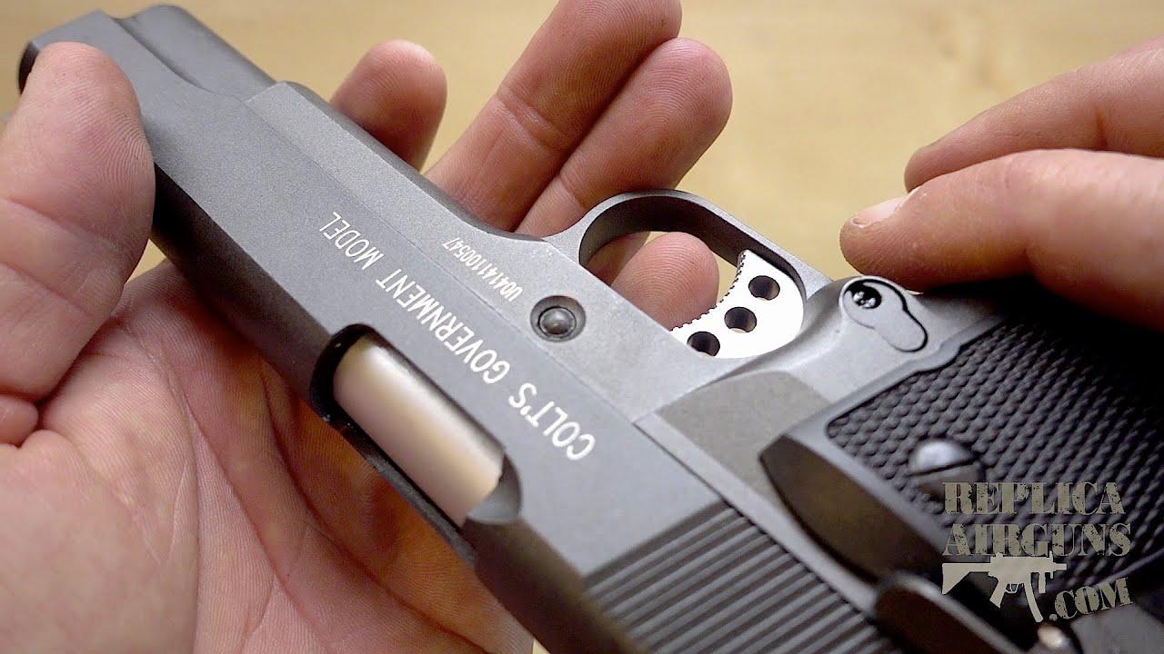 Cybergun Colt 1911 MKIV CO2 Blowback Pistolet Airsoft Dessus De Table Revue