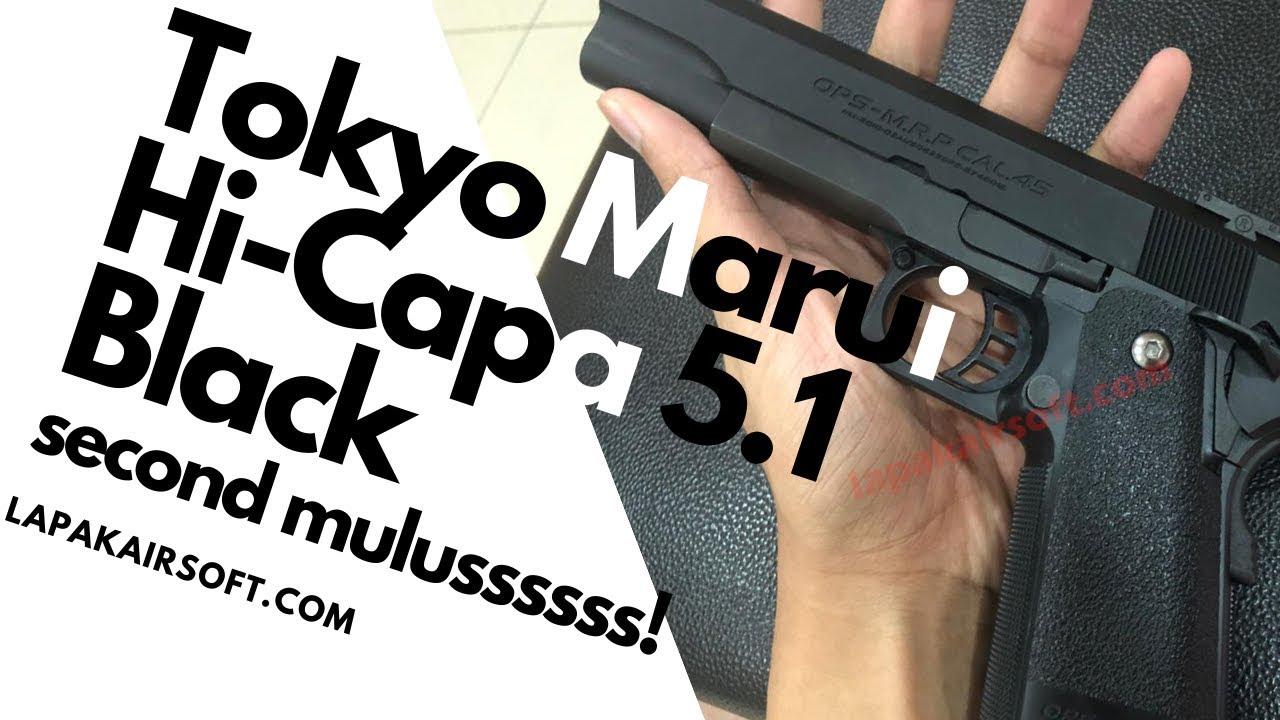 Vente de l'airsoft en second lieu: Tokyo Marui Hi-Capa 5.1 noir Pistolet de Blowback Gas Smooth Serment!
