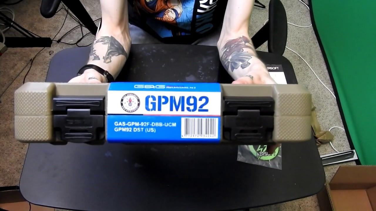 Pistolet de refoulement des gaz G & G GPM91 – Examen