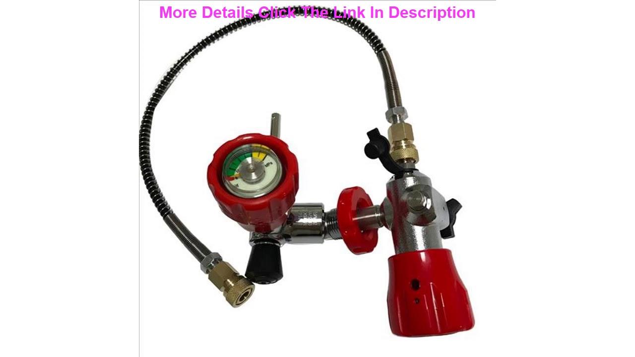 Review AC102101 pcp airsoft mini-scuba réservoir de paintball carabine cylindre de plongée sous-marine 2L ballon f