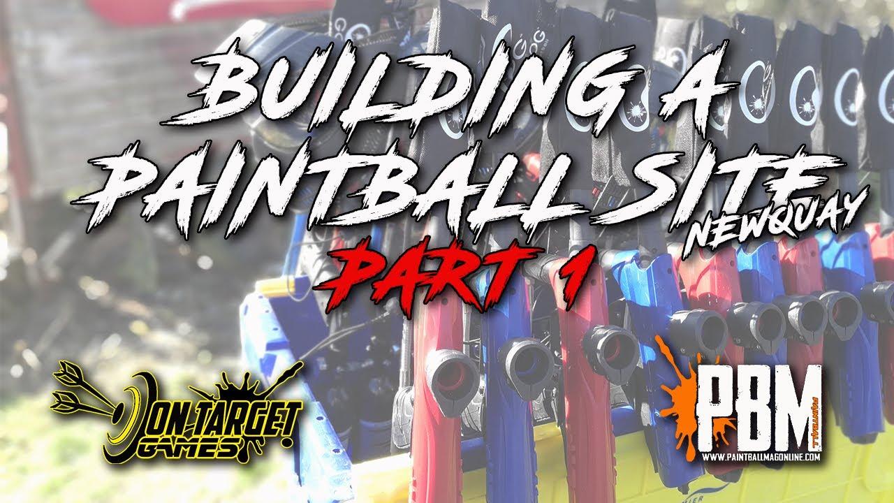 Construction d'une série de sites de paintball, Partie 1, Jeux ciblés Newquay