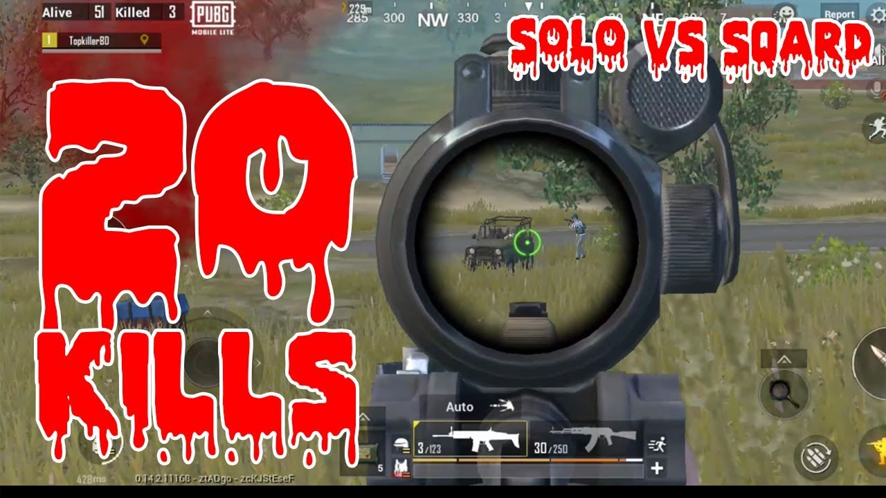 PUBG Mobile Lite Solo vs Squad 20 morts Gameplay