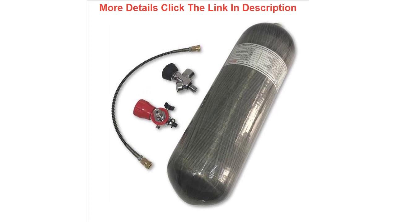 Révisez la bouteille de gaz haute pression AC168301 Rifle Pcp 6.8L 300Bar 4500Psi pour pistolet à air comprimé