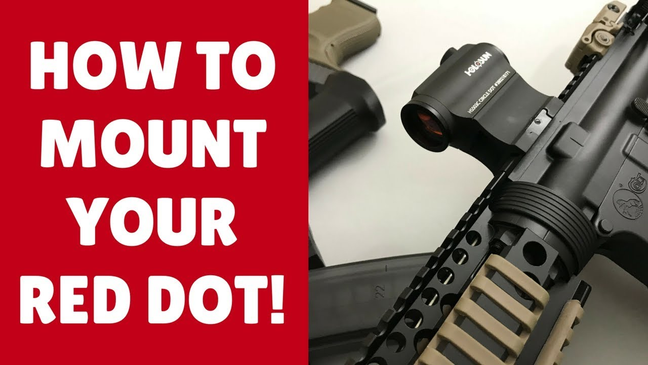 Comment monter un point rouge sur un AR 15 comme un patron (3 étapes faciles!)