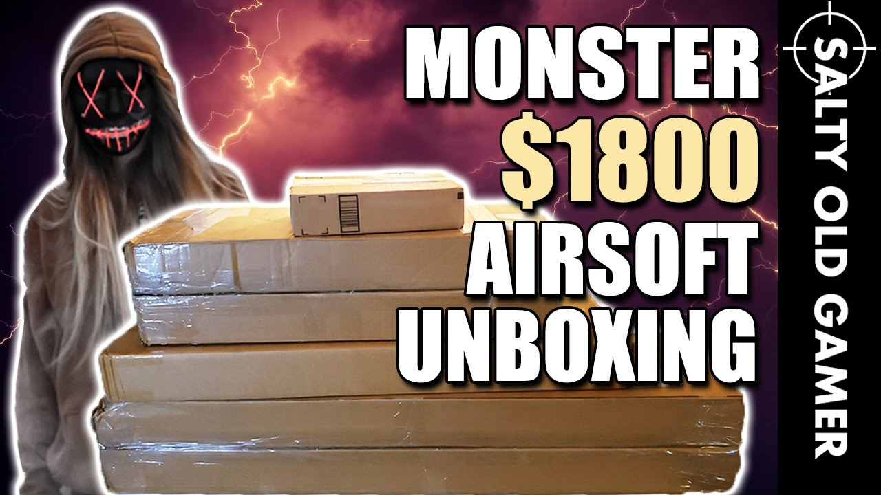 Monster 1800 $ Airsoft Unboxing! Plus gros encore! | SaltyOldGamer Airsoft Special