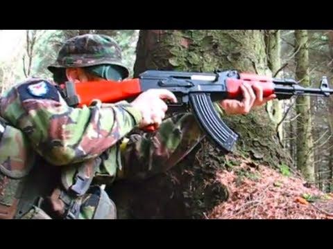 Airsoft War AK47 G36C M1A1 Ares Scar POW Ecosse