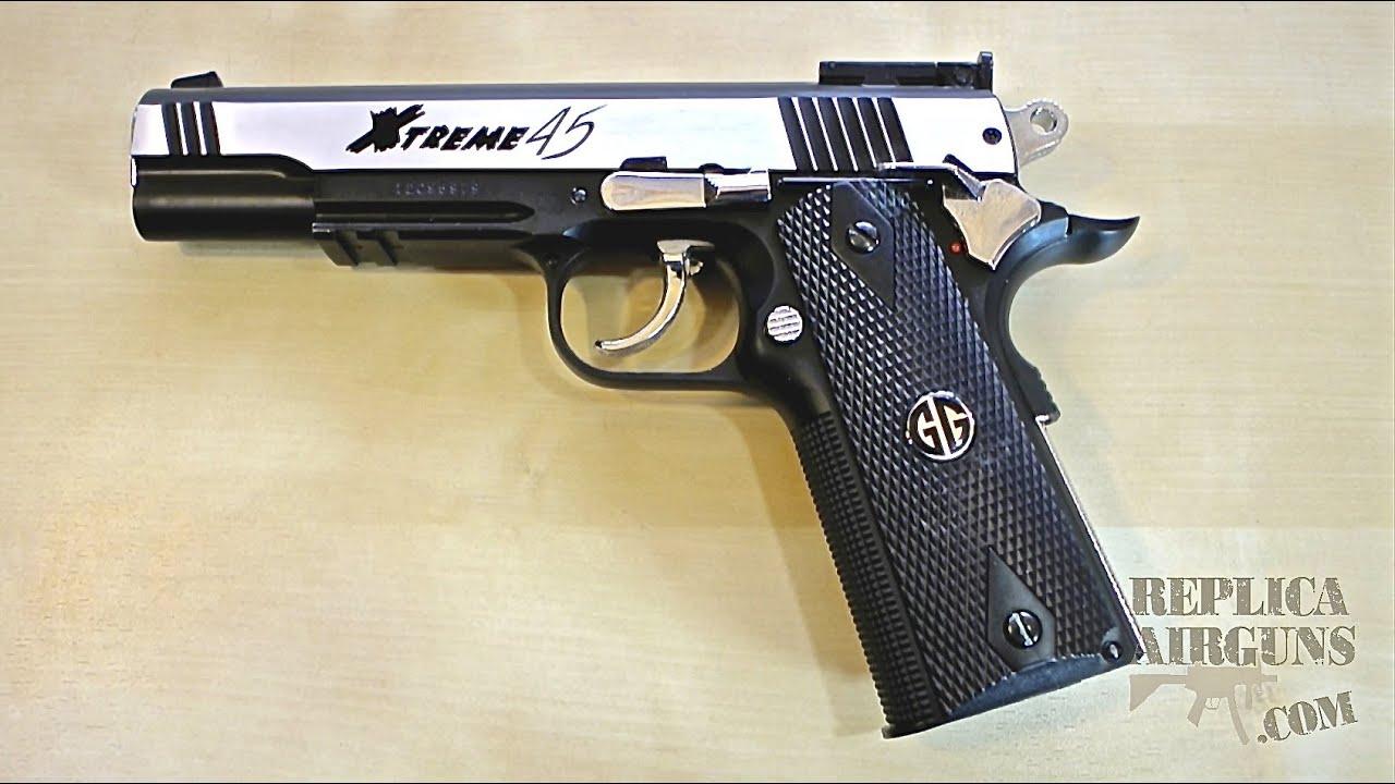 Revêtement du dessus du pistolet Airsoft CO2 G & G Xtreme 45 CO2