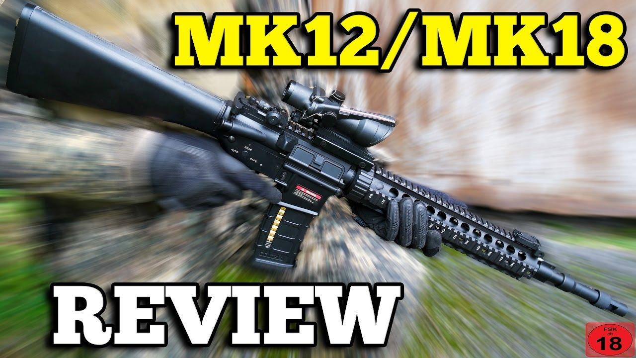 M4 Airsoft MK12 MK18 E & C Test GsP Airsoft [DE/4K]