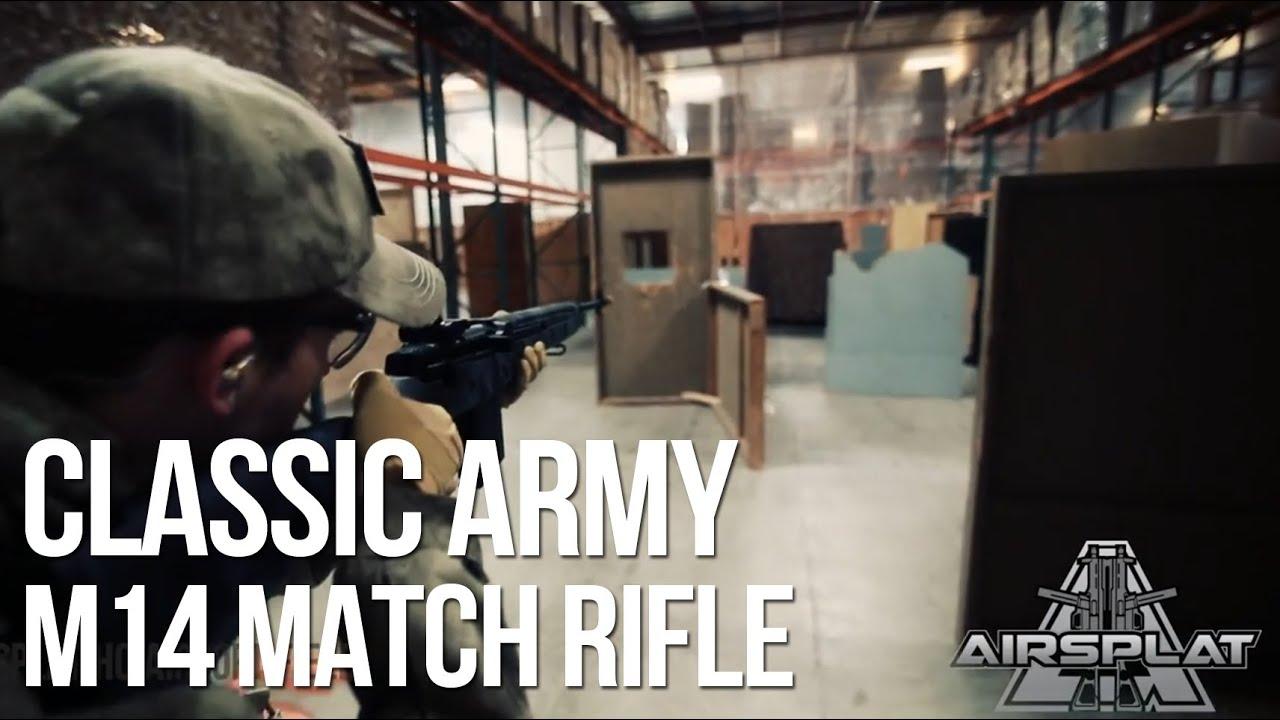 Fusil AEG Kryptek Classic Airsoft M14 Match de l'armée classique – AirSplat à la demande