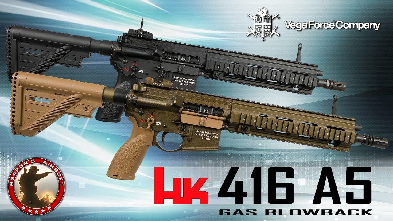 [Review] VFC / Umarex HK416 A5 GBB (2017) – (Heckler & Koch) – Airsoft 6K / Softair 4K UHD