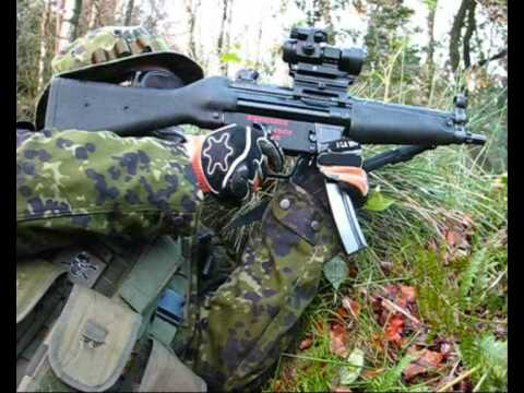 """Airsoft War MP5, G & G M4, JG MP5 """"Le Fort"""" Ecosse"""
