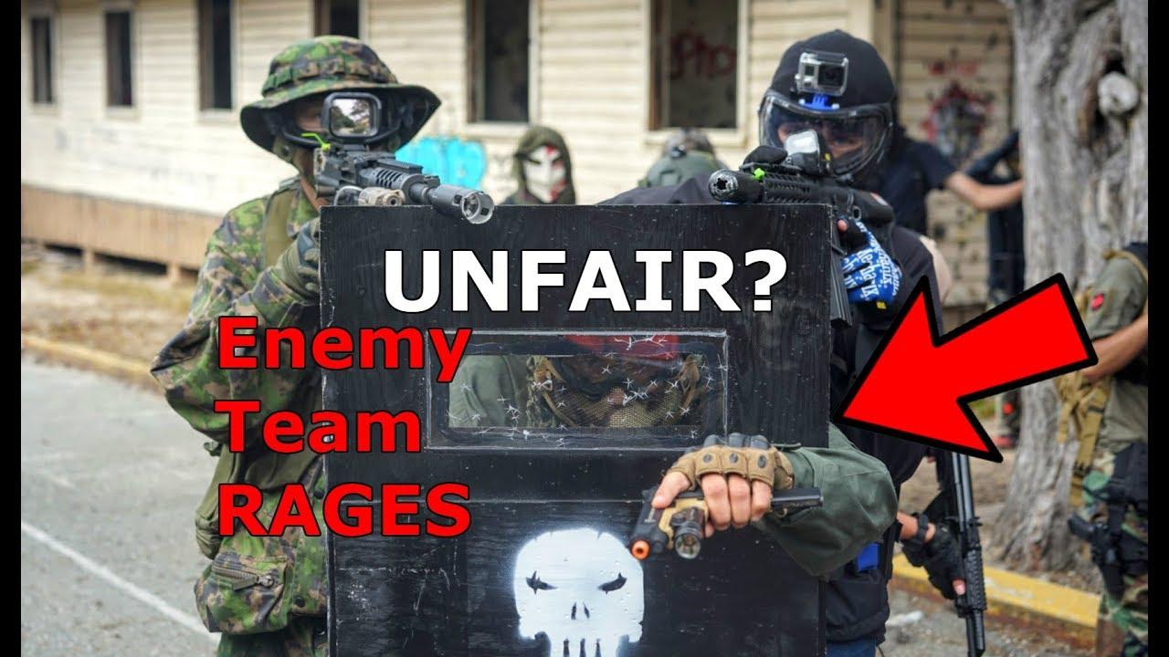 Airsoft Riot shield Squad DESTROYS équipe ennemie Ils obtiennent MAD!