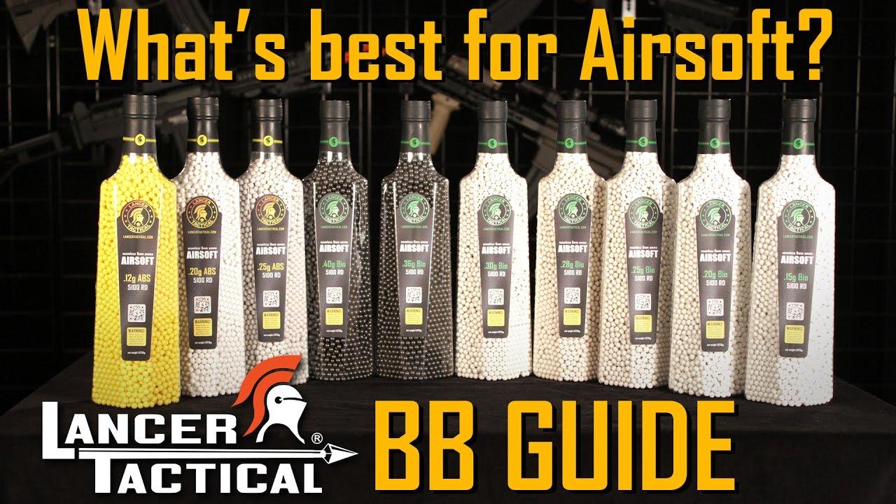 Les meilleurs BBs Airsoft pour votre arme – Guide des BBs Lancer Tactical