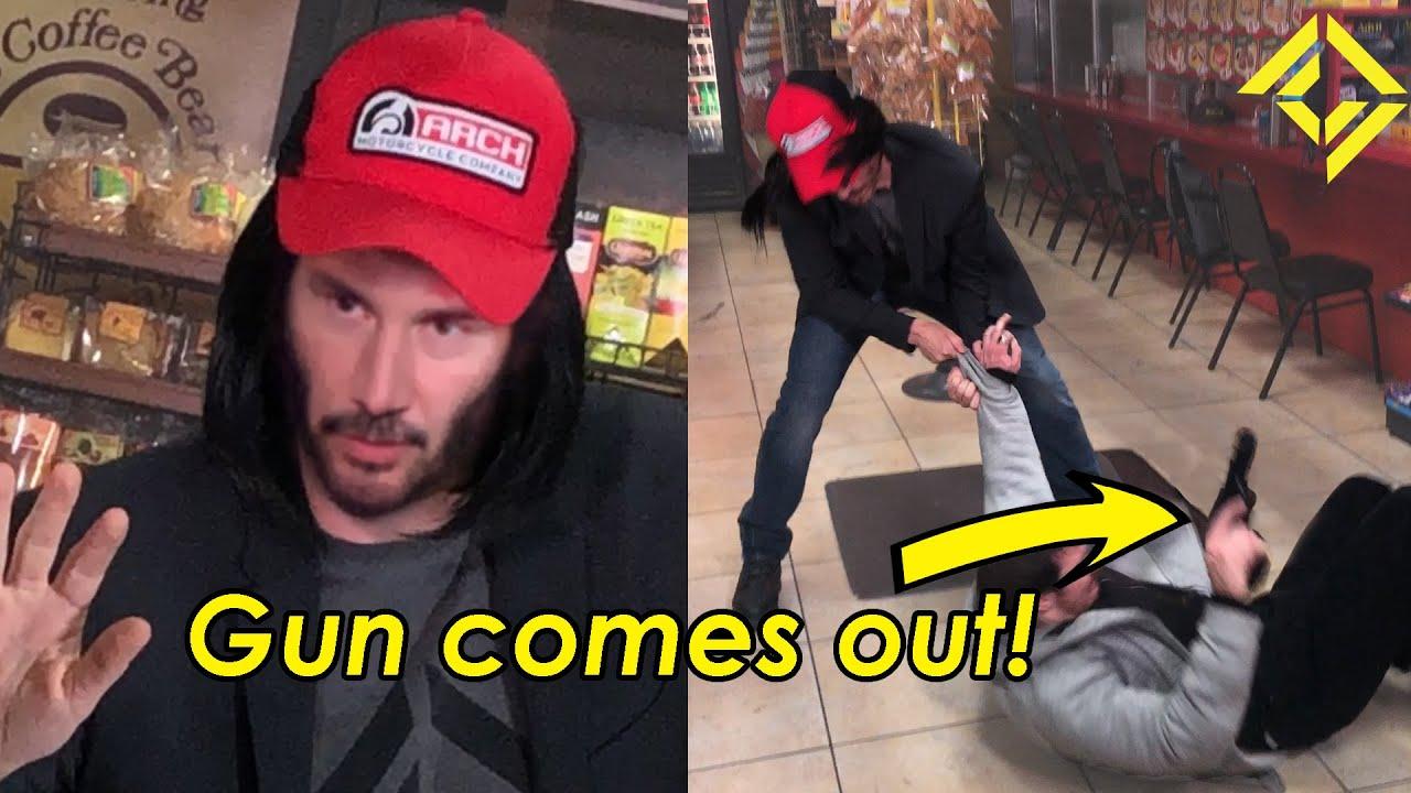 Keanu Reeves arrête un vol!