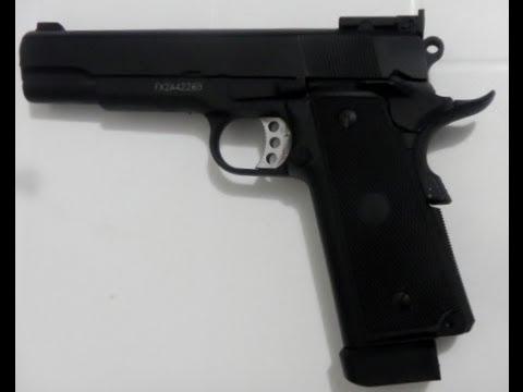 1911 Colt Airsoft Colt Pistol 6mm à soufflet entièrement en métal