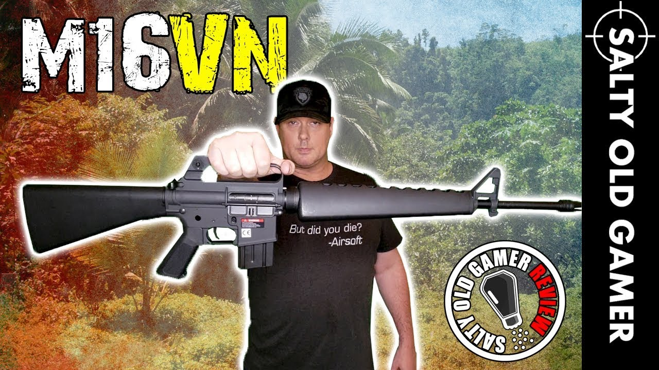 G & P M16A1 Vietnam Airsoft AEG   SaltyOldGamer Airsoft Review