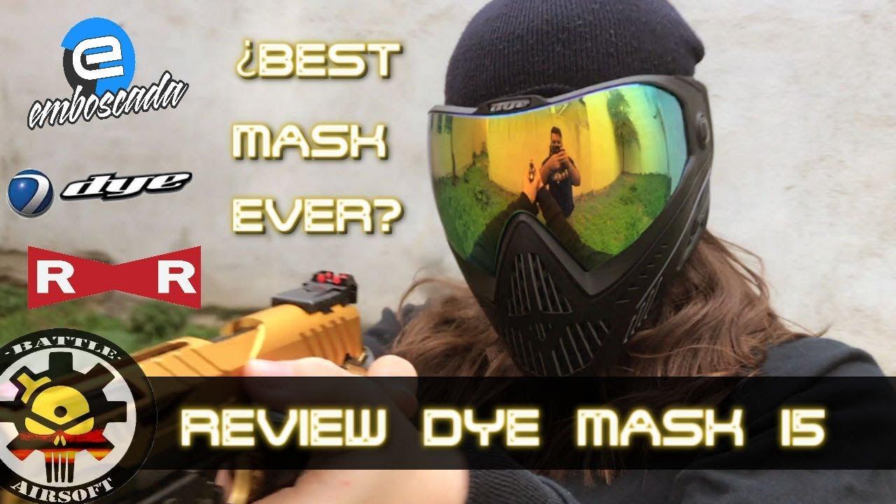 Le meilleur masque pour AIRSOFT Review Dye i5 mask // AIRSOFT SPAIN