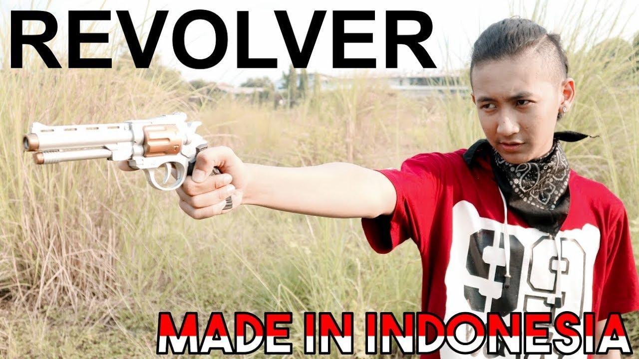Revolvers de pistolet Airsoft fabriqués en Indonésie (AZ2265G / S AZZURI) | Jouet examen par CANDRA SALAY