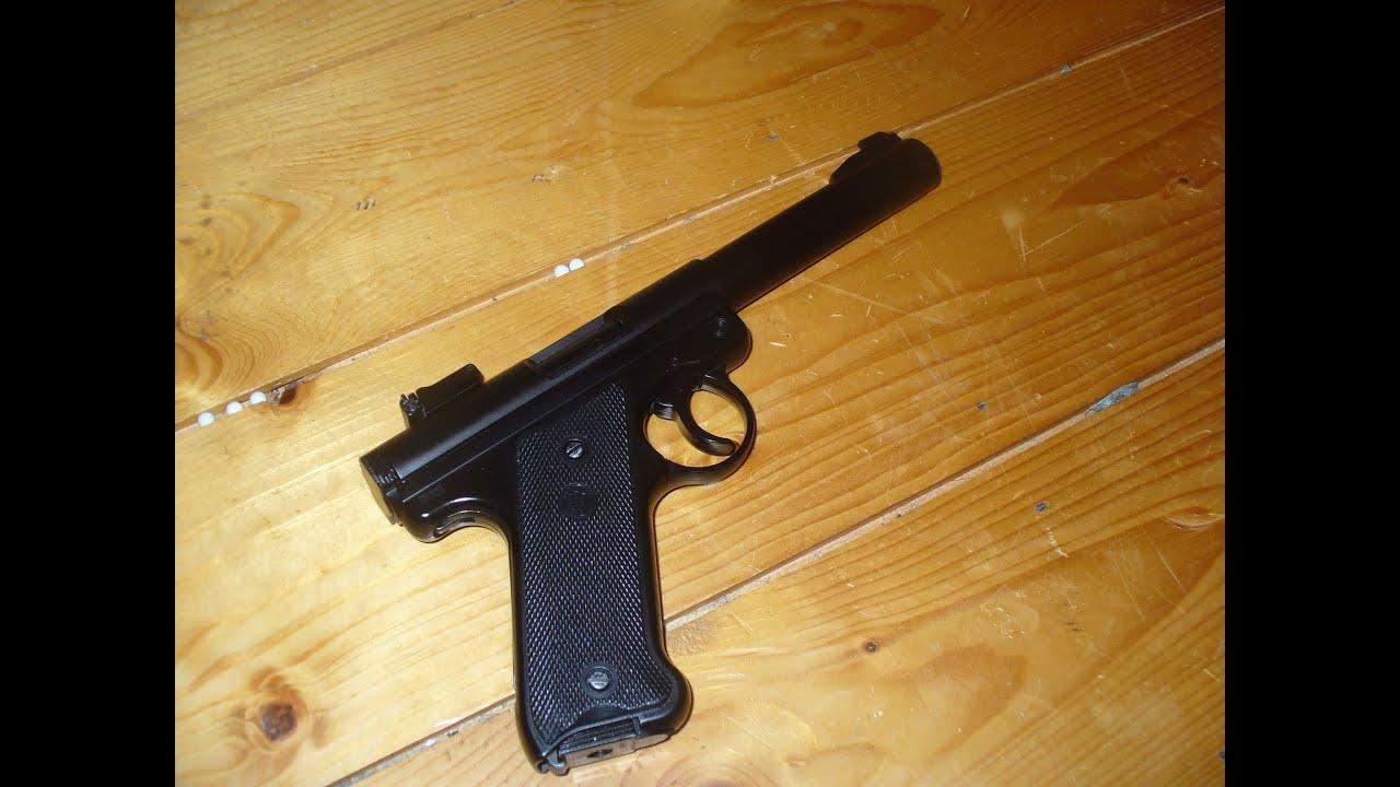 Pistolet KJW Ruger MK1 Airsoft Révision, test de démontage et de tir