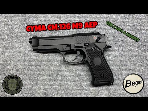 [REVIEW] M9 AEP Review CYMA CM.126 Gen.2 LiPo & Mosfet par BEGADI allemand / allemand