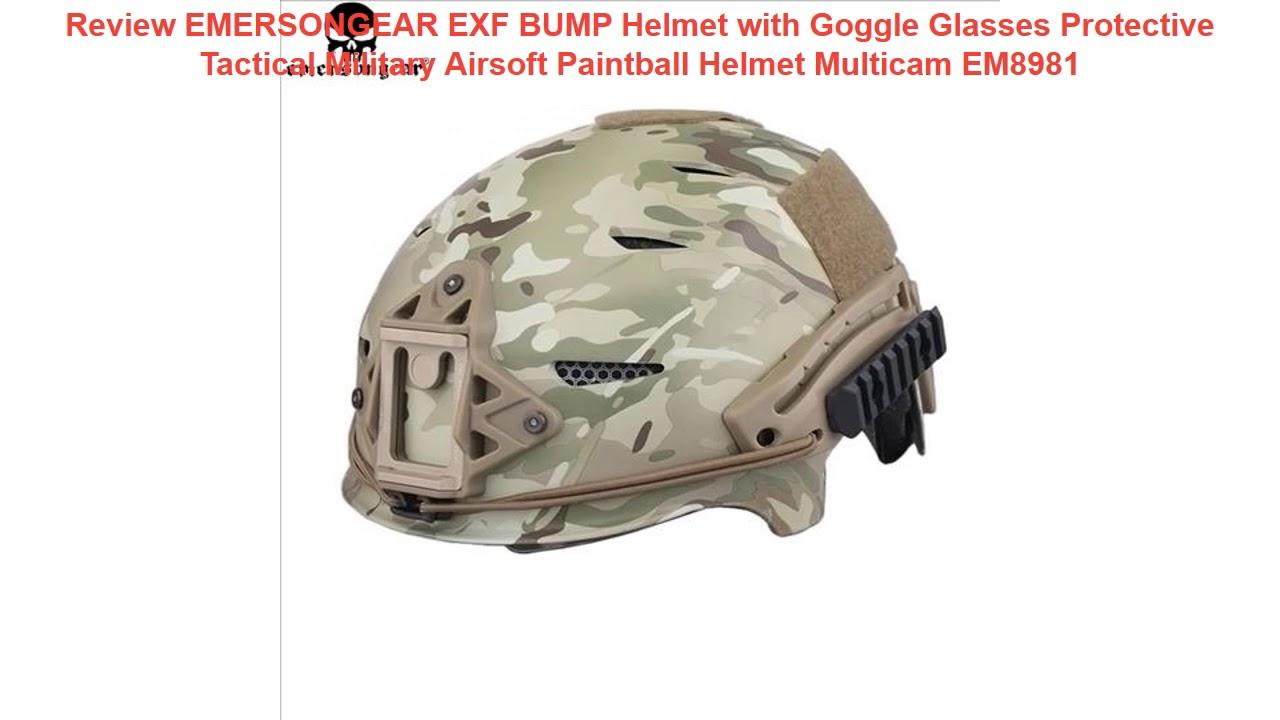 Test du casque EMERSONGEAR EXF BUMP avec lunettes de protection Tact