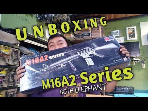 Série M16A2 Les deux éléphants. Une brève revue et unboxing de Airsoft Gun Spring. F24 Airsoft Cimahi