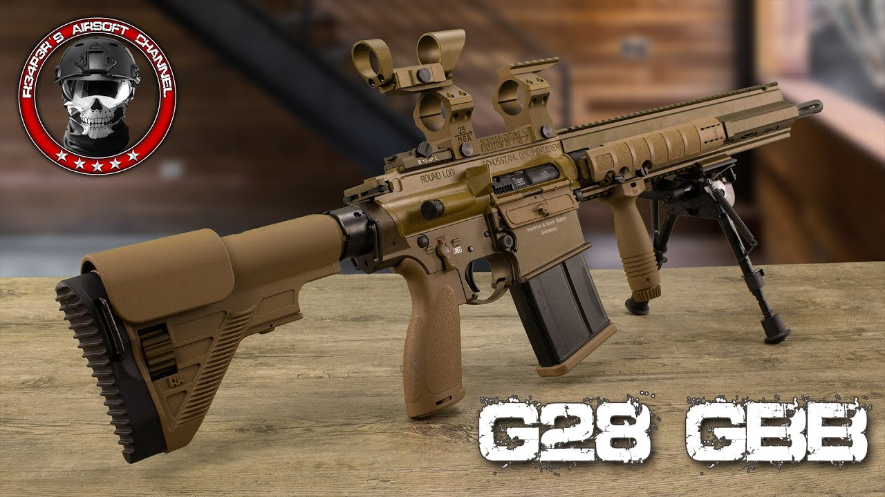 [Review] VFC / Umarex Heckler & Koch G28 GBB (Base HK417) Airsoft anglais / allemand