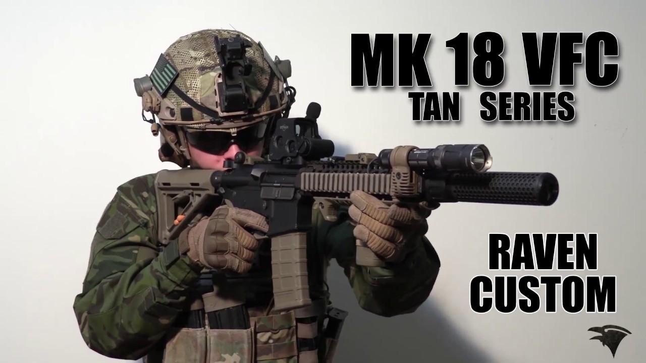 Examen | VFC MK18 Colt Mod 1 FDE / Raven personnalisé Airsoft / Airsoft Raven | Airsoft Italia