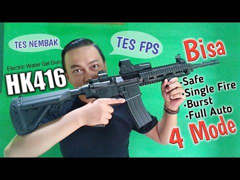 HK416 Pistolet à poudre électrique pour gel à l'eau. WGG Unboxing, Review, Fps Test.