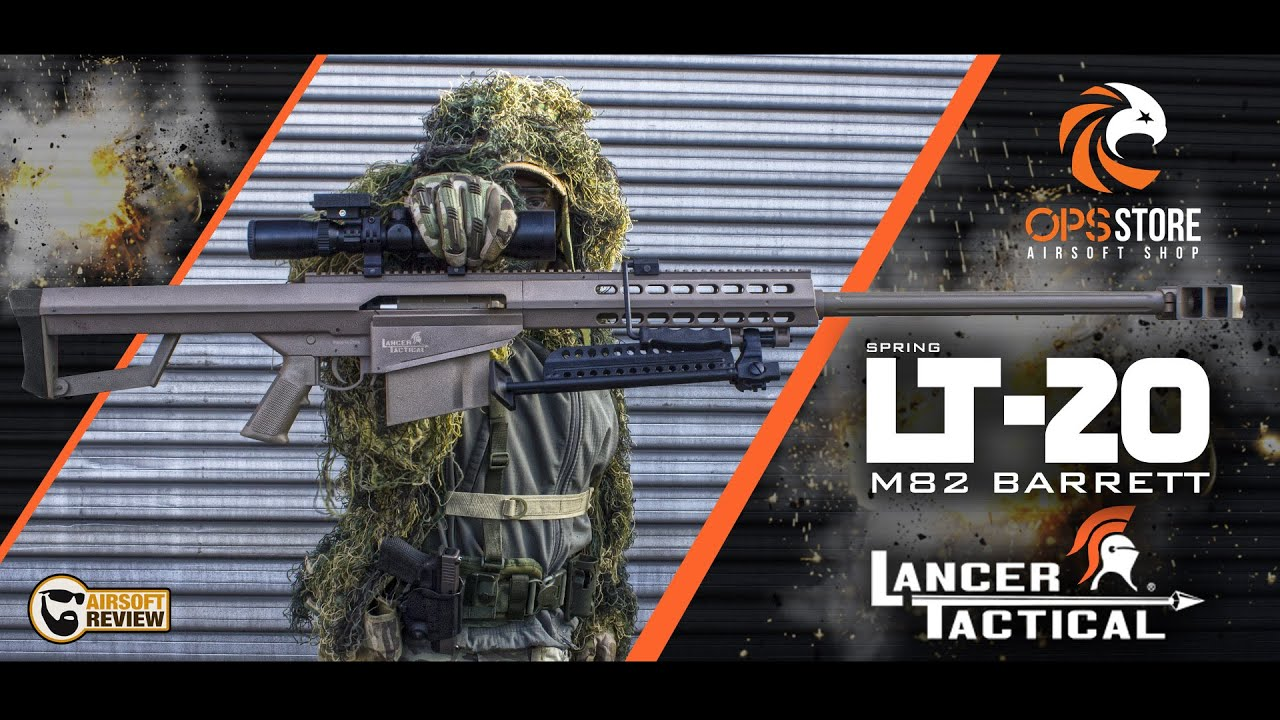 [FR] LT-20 M82 BARRETT SPRING / LANCER TACTICAL / OPS-STORE #AIRSOFT REVIEW
