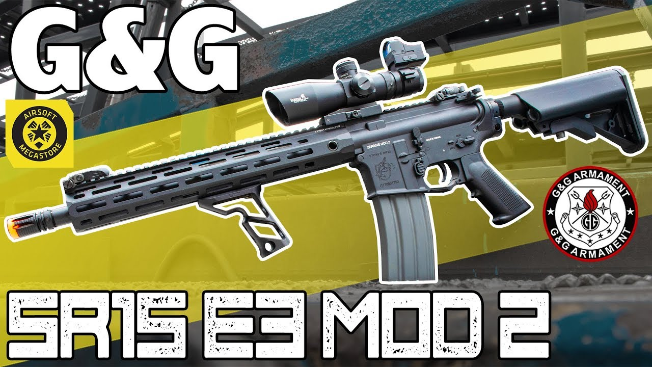 Pas juste un autre M4! | G & G SR15 E3 MOD 2 | Revue complète Airsoft Megastore