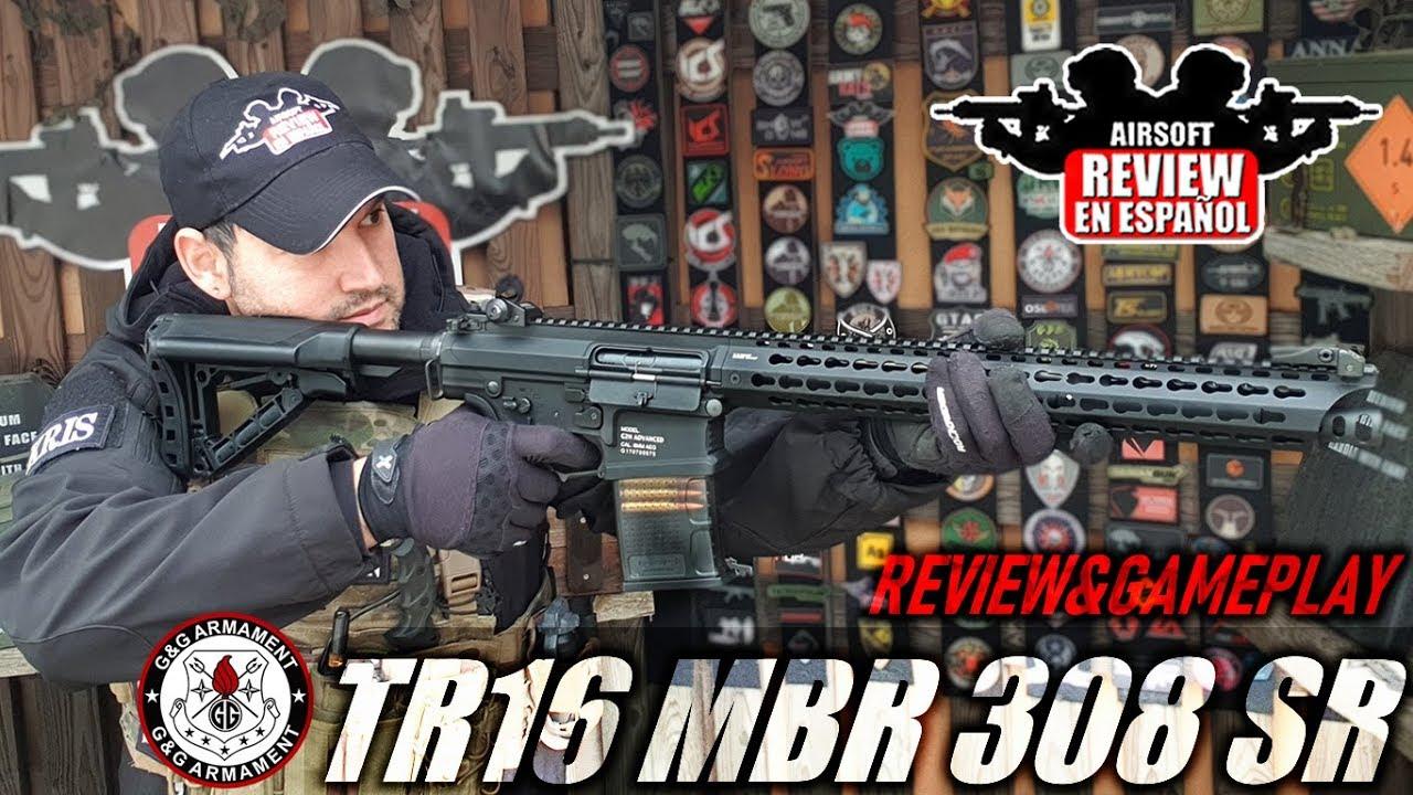 TR16 MBR 308 SR de G & G (Review & Gameplay)   Airsoft Review en espagnol