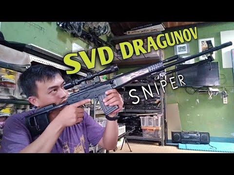 Bref examen de SVD DRAGUNOV. Airsoft gun spring.