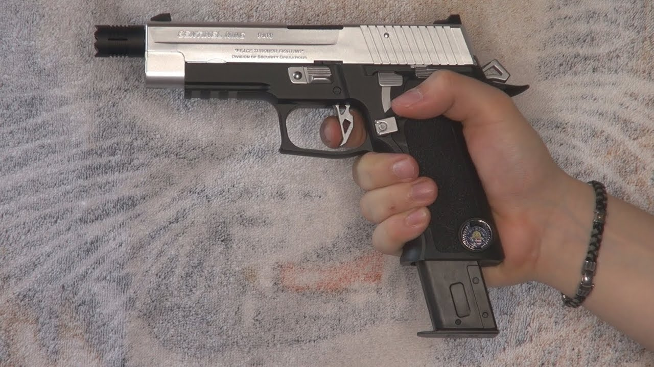 (Airsoft) Sentinel Nine Tokyo Marui (Bio Hazard/Resident Evil collector gun) – KhanSeb