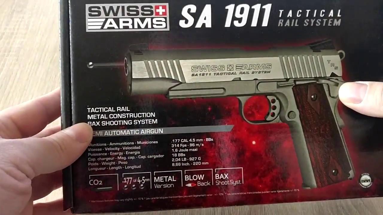 Armes suisses 1911 TRS BB unboxing / tir