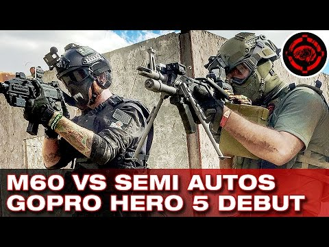 A & K Airsoft M60 (Mk43) Full Auto Beast + GoPro Hero 5 Débuts Airsoft