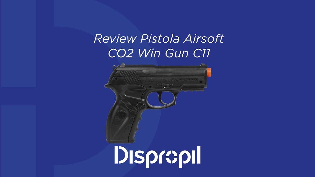 Test du pistolet CO2 Airsoft Win Win C11