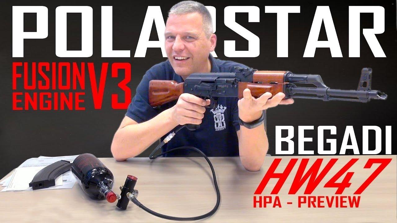 Déballage BEGADI HW47 POLARSTAR HPA AK47 | Sous-titres anglais – allemand