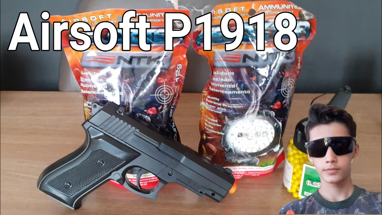 Airsoft P1918 Unboxing avec BB's + Goggles !!!