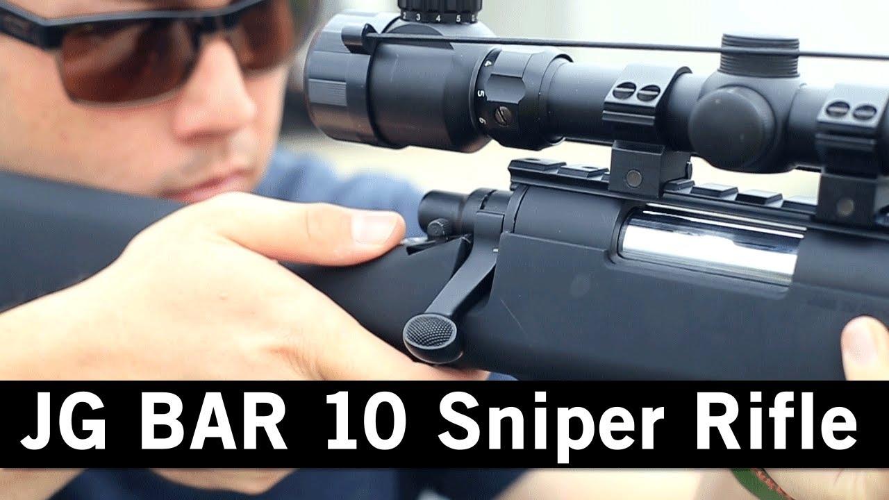 Airsoft GI – JG Bar 10 Pistolet à fusil à lunette à ressort actionné par ressort