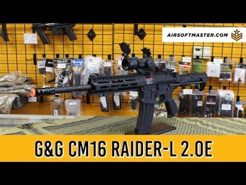 Test du pistolet airsoft CM16 Raider-L 2.0E de G & G