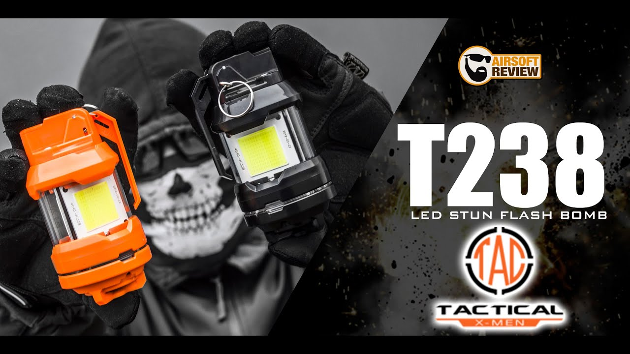 [FR] GRENADE T238 LED STUN FLASH BOMB / TACTICALXMEN / AIRSOFT REVIEW
