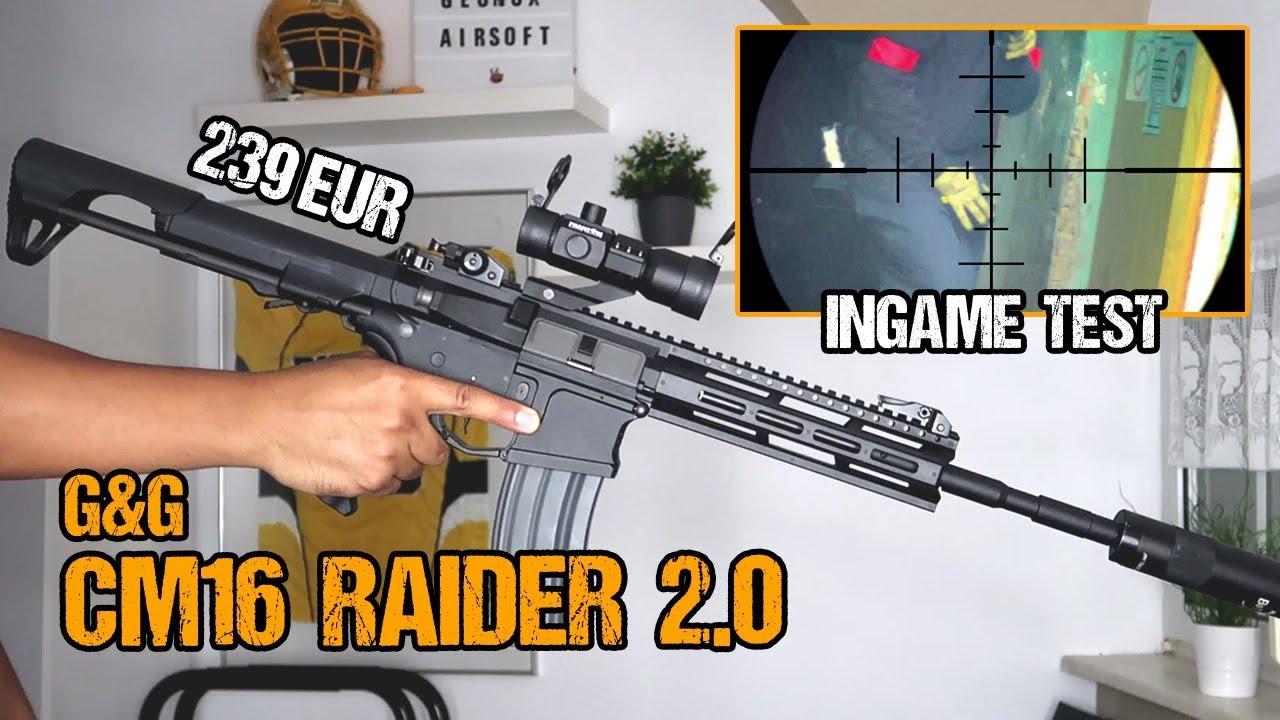 G & G CM16 Raider 2.0E L E.T.U   Airbox Unboxing et examen