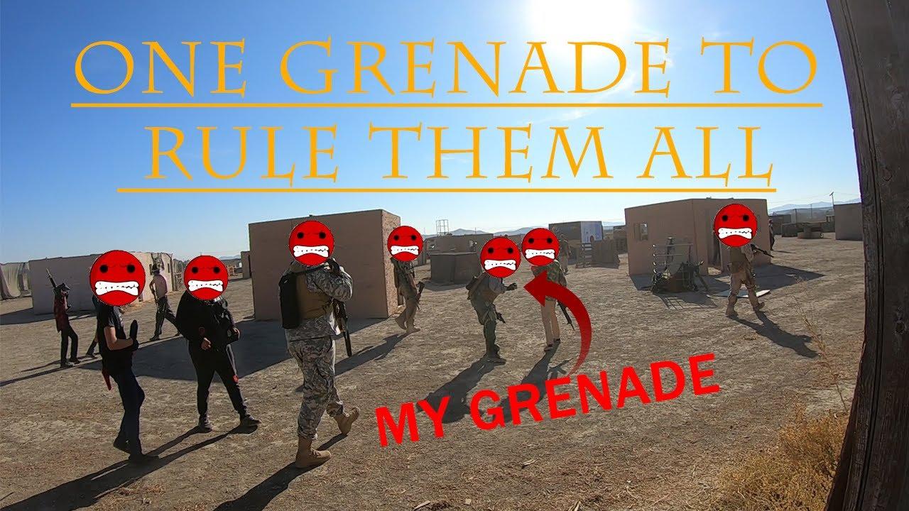 Une grenade pour les gouverner tous   Code Red Airsoft Park