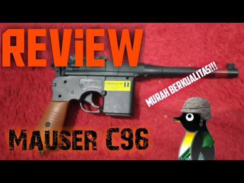 Unboxing + Réviser Airsoftgun Mauser C96 D '# 39; cobra [] Airsoft Indonesia []