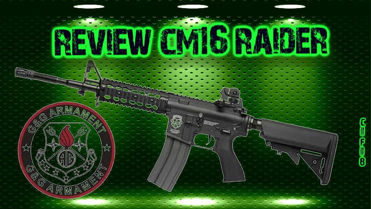 "[Airsoft review] CM16 RAIDER ""G & G personnalisé"" (ACOG TRIJICOM, ELEMENT M951, EMAG MAGPUL PTS"