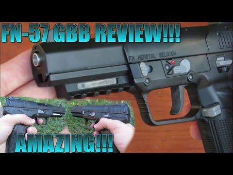 FN-57 Pistolet à air comprimé C02 Airsoft REVIEW! MEILLEUR PISTOLET AIRSOFT?!