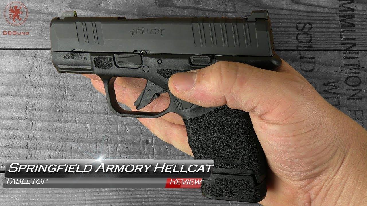 Revue de table Hellcat Armory Springfield et bande de terrain