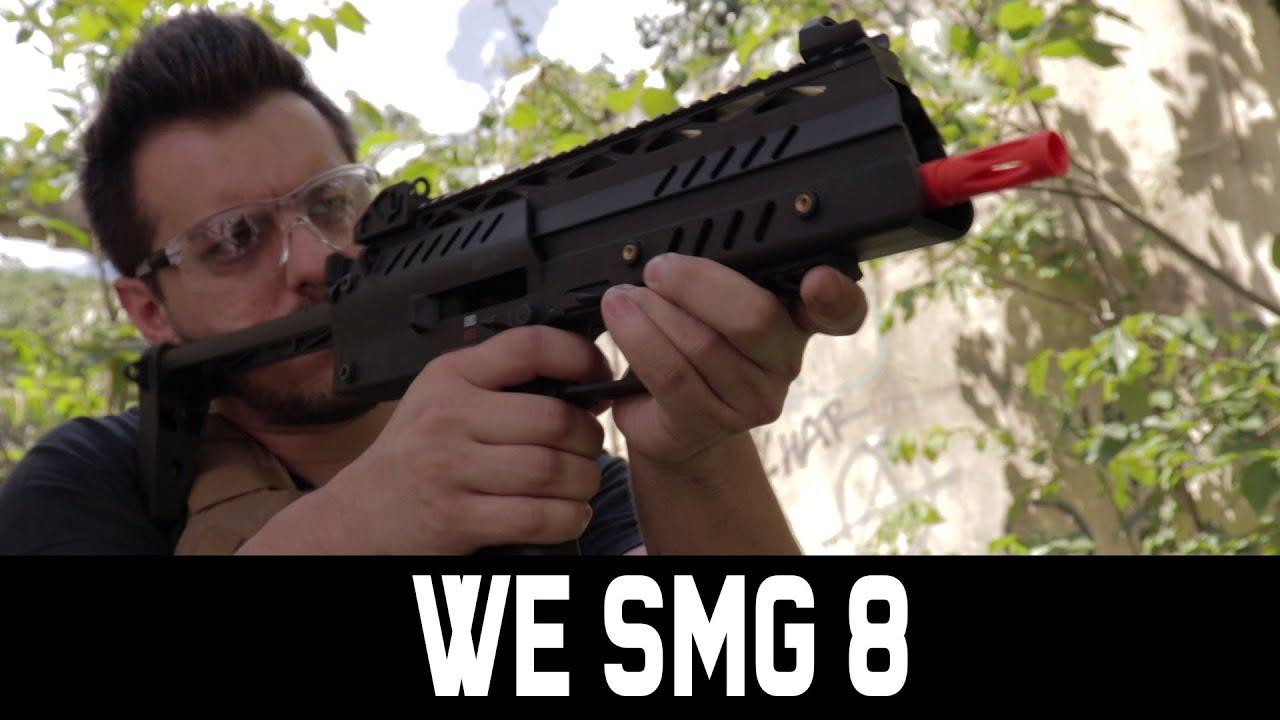 REVUE AIRSOFT GBBR WE SMG 8 – WARSOFT BRASIL